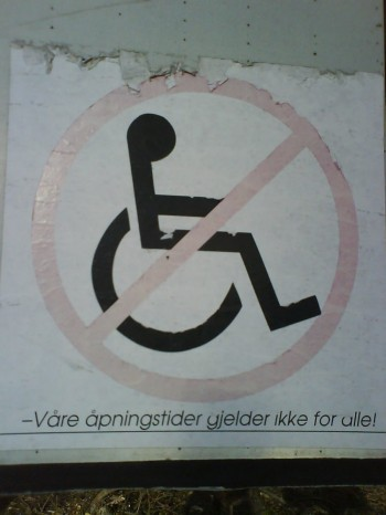 No Wheelchairs Allowed