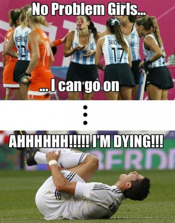Just field hockey girls toughness vs soccer guys toughness