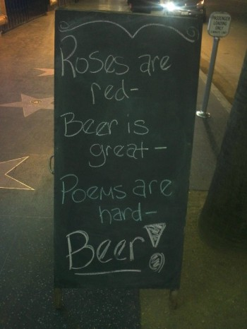 Outside of my local pub