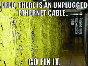 Unplugged Ethernet Cable
