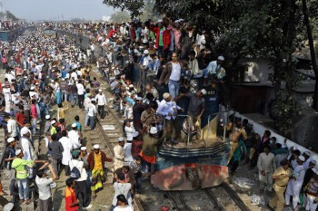 Rush hour in Bangladesh