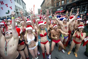 Boston Santa Speedo Run
