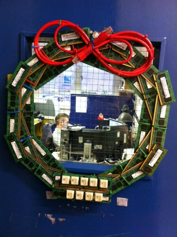 IT Support Xmas Wreath