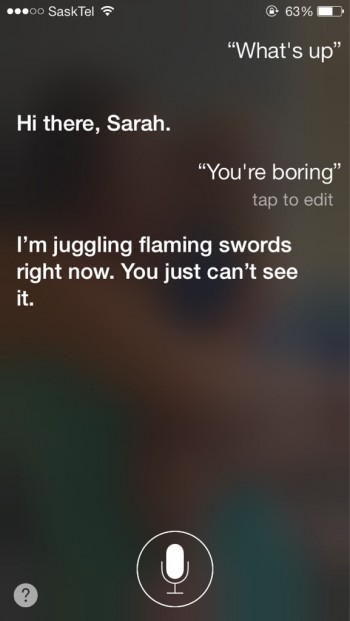 Siri Is Kinda Intense