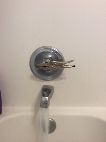 I asked landlord to fix our shower handle