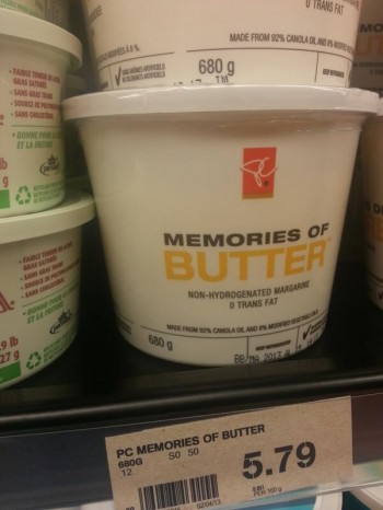 Such a depressing name for a butter substitute