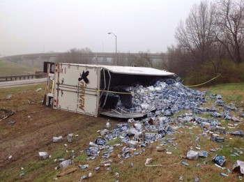 Beer Truck Crash