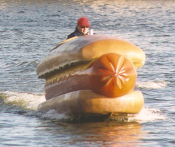 Just taking my hotdog out for a spin