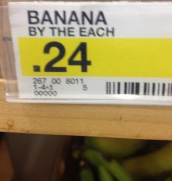 Banana by the each