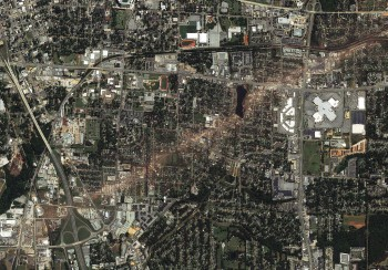 Satellite Image of a Tornado Aftermath