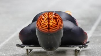 Canadian Skeleton Helmet at the 2014 Olympics