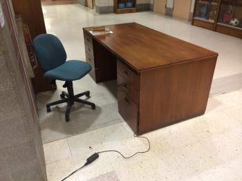 High school sometime has to leave his desk