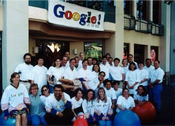 The first Google team in 1999