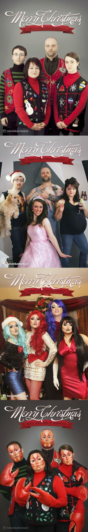 Four Years of Christmas Family Photos