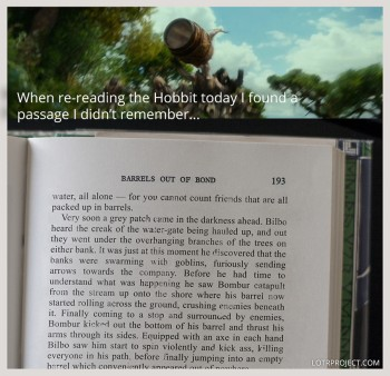 "I was reading ""The Hobbit"" when..."