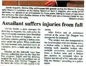 "Yes, the ""curb"" caused those injuries..."