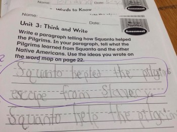 Second Grader Revises History