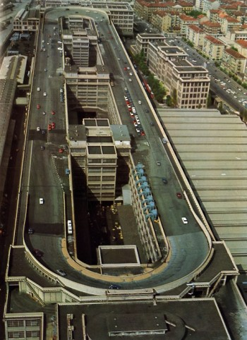 Race track on the roof at the Fiat factory