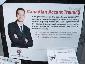 Canadian accent training