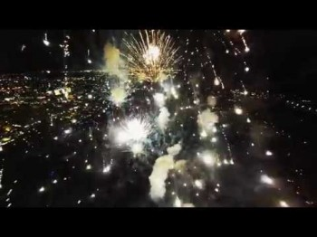 Fireworks filmed with a drone