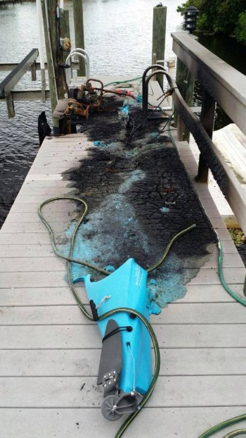 Kayak struck by lightning