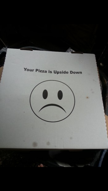 Bottom of the pizza box